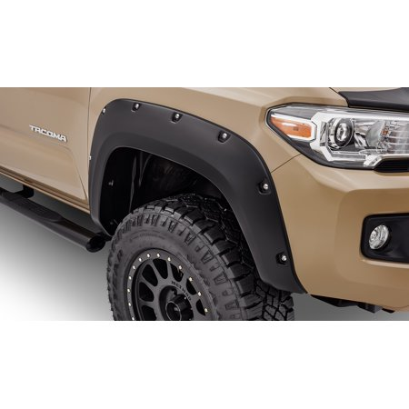 Bushwacker 30922-02 Fender Flare Pocket Style (R) 2 Inch Tire Coverage; Matte Black; Dura-Flex ® 2000 ABS Smooth Plastic; 5-3/4 Inch Flare Height; Set Of 4 - image 1 of 2