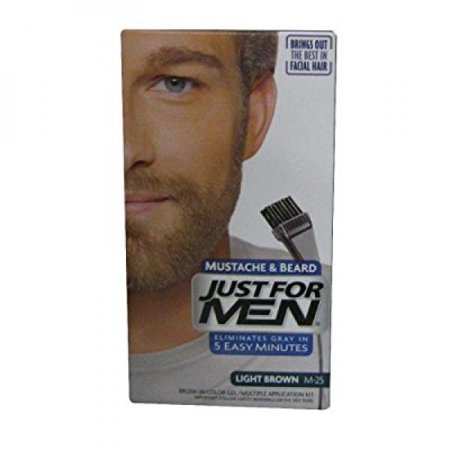 Just for Men Mustache and Beard Brush-in Color, Light Brown](Mustache And Beard)