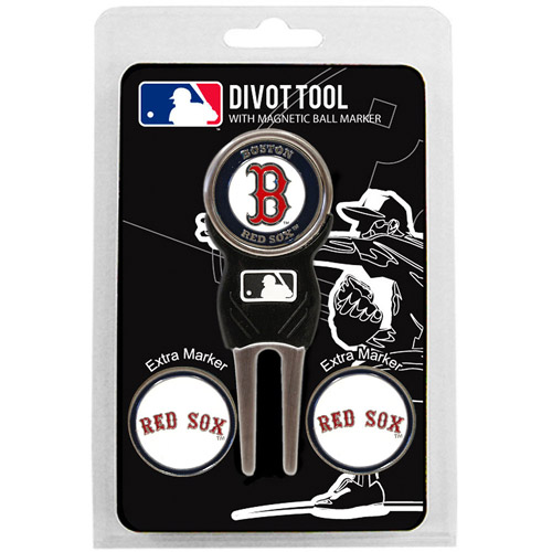 Team Golf MLB Boston Red Sox Divot Tool Pack With 3 Golf Ball Markers