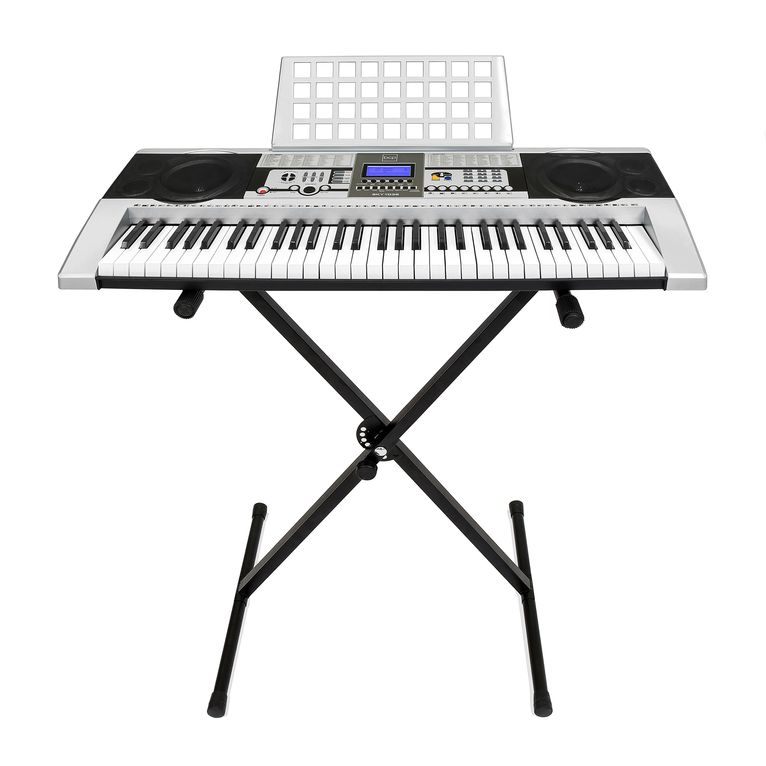 Best Choice Products 61-Key Beginner Electronic Digital Keyboard Piano w/ Adjustable Stand, Power Supply, Speakers