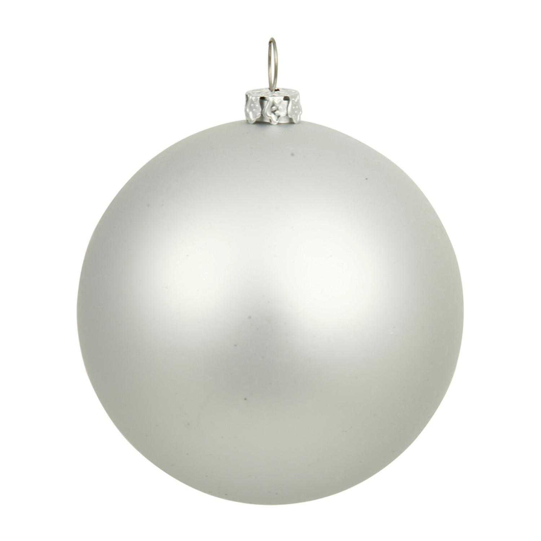 Christmas Bulb Png.Matte Silver Uv Resistant Commercial Shatterproof Christmas Ball Ornament 4 100mm