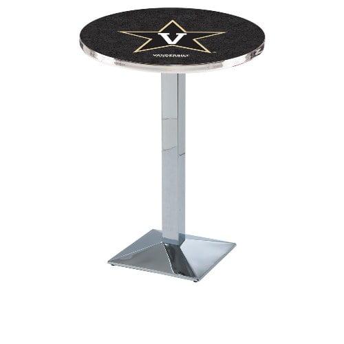 NCAA Pub Table by Holland Bar Stool, Chrome - Vanderbilt University, 42'' - L217