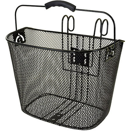 Topeak Bike Basket - Ventura Easy-Mount Mesh Bicycle Basket 10.25 x 8.5 x 13.5 in, Black