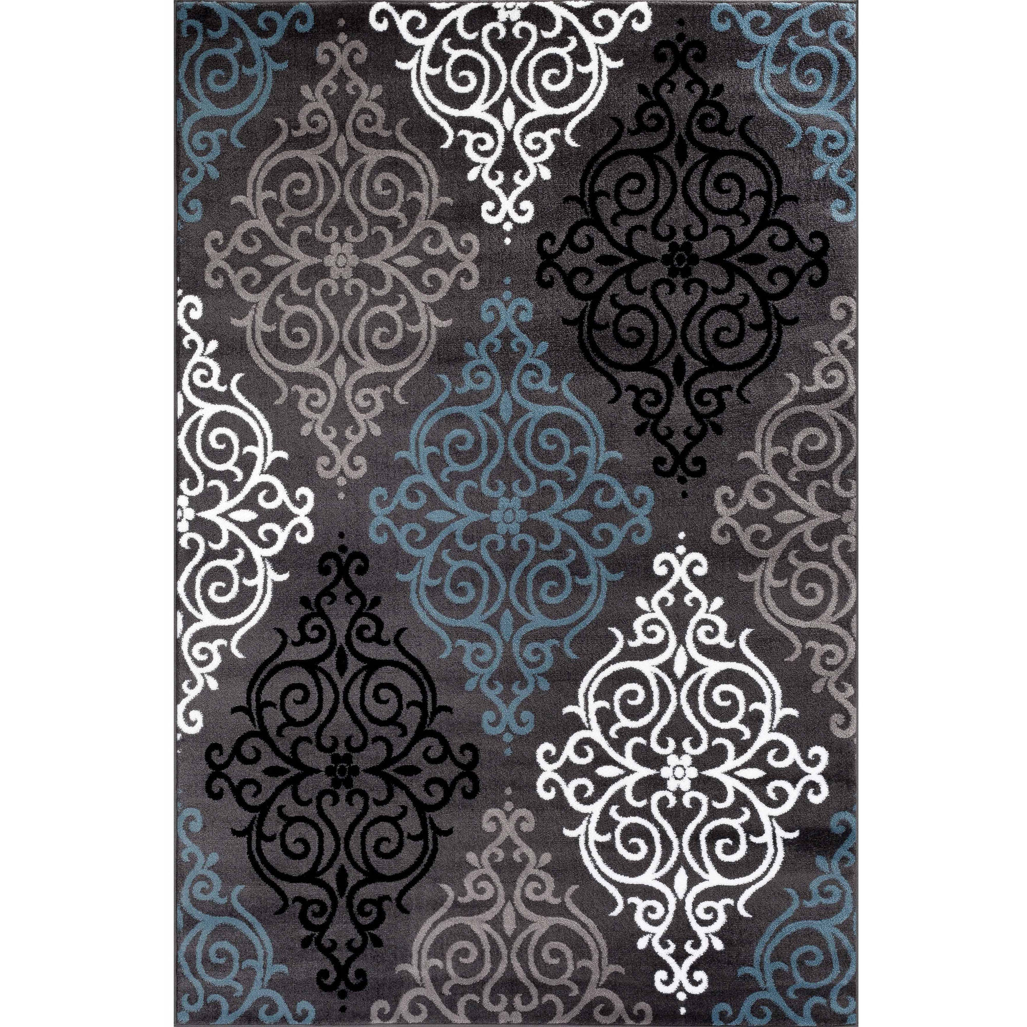 World Rug Gallery Modern Transitional Soft Damask Area Rug