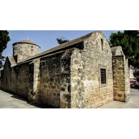 Peel-n-Stick Poster of Paralimni Ayia Anna Cyprus Medieval Church Poster 24x16 Adhesive Sticker Poster Print