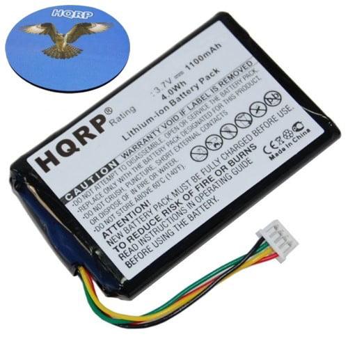 HQRP 1100mAh Battery for MAGELLAN RoadMate 1200 1210 T0021, F074389508 GPS Navigator + HQRP Coaster