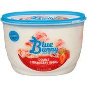 Blue Bunny Premium Double Strawberry Swirl Ice Cream , 48 fl oz