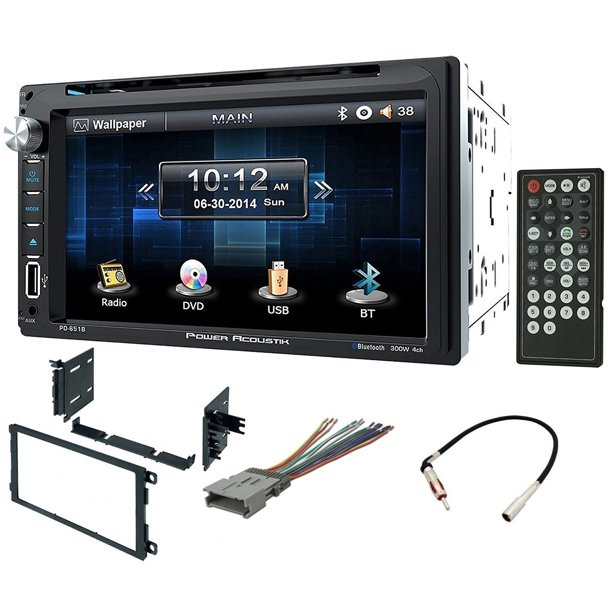 Double Din Installation Kit Harness And Adapter For Select 90 Up Gm Honda Isuzu Suzuki Vehicles 90 Up With Power Acoustik Pd 651b 6 5 Quot Double Din Lcd Touchscreen Dvd Receiver With B Walmart Com Walmart Com