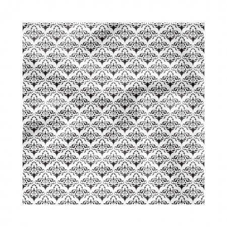 Acanthus Napkins Set of 4, Repeating Monochrome Pattern of Antique Royalty Inspired Swirling Motif, Silky Satin Fabric for Brunch Dinner Buffet Party, by Ambesonne