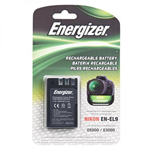 Energizer ENB-NEL9 Digital Replacement Battery EN-EL9 for Nikon D3X, D40, D40X, D60, D3000 and D5000 (Black) by Bower Camera