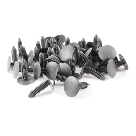 50 Pieces Car 7mm Hole Push in Clips Plastic Rivets Fasteners Retainers Gray (50 Piece Clips)