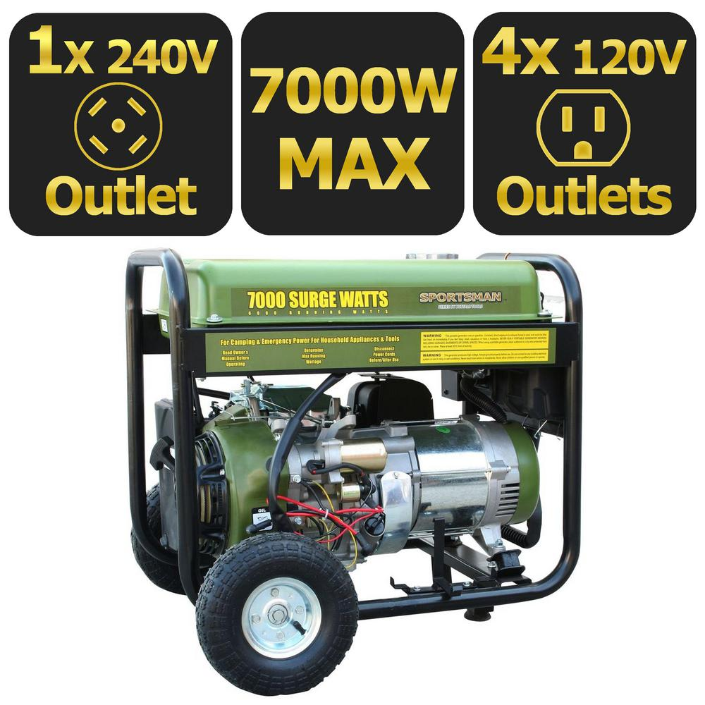 Sportsmans Series 7000-Watt Gas Generator