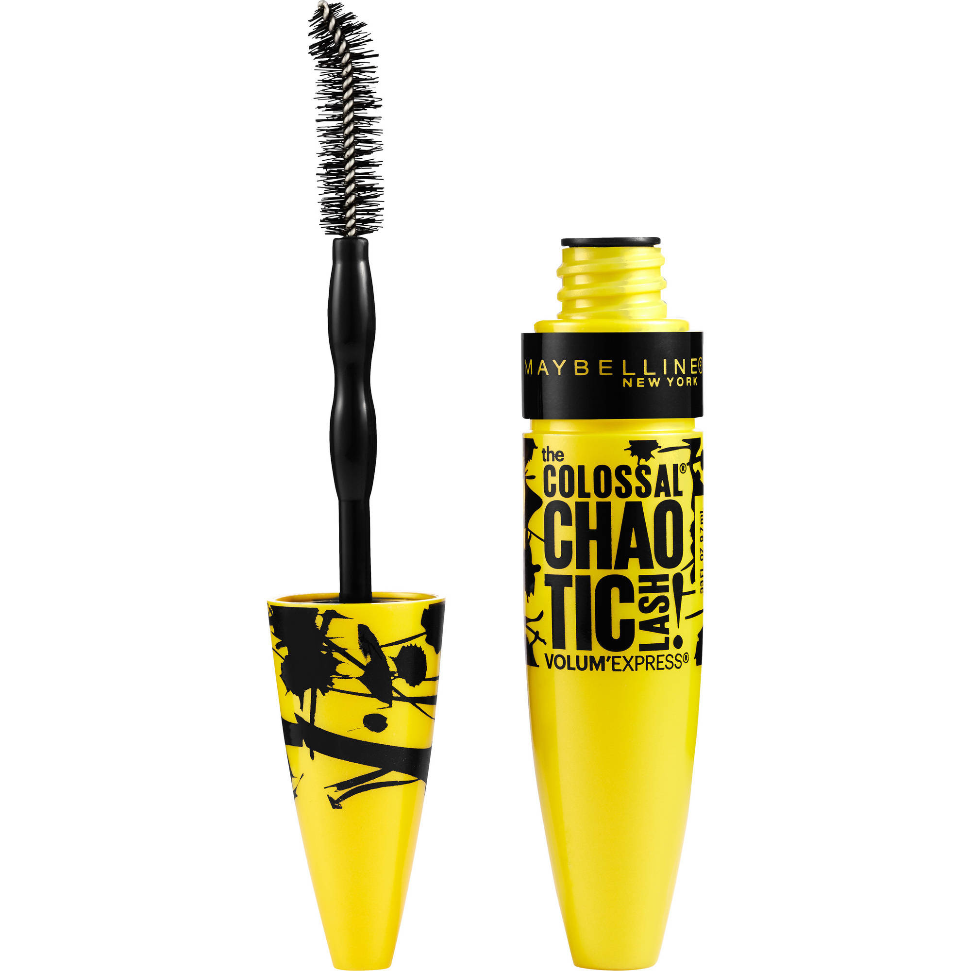 Maybelline New York Volum'Express the Colossal Chaotic Lash Mascara, 218 Blackest Noir, 0.33 fl oz