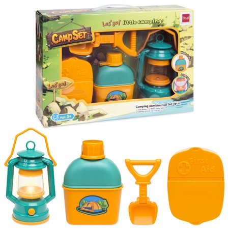 Best Choice Products Kids Outdoor Adventure Kit with Light, Shovel, Water Bottle and First Aid