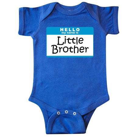 Name Brand Infant Clothing - Little Brother Name Tag Infant Creeper
