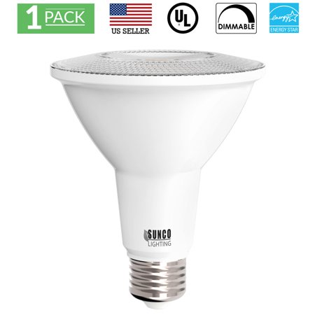 Sunco Lighting 1 Pack PAR30 LED Light Bulb 11 Watt (75W Equivalent) 3000K Kelvin Warm White, 850 Lumens, 25,000 Hours, Dimmable, Indoor / Outdoor, Flood, Accent, Highlight - UL & ENERGY STAR LISTED