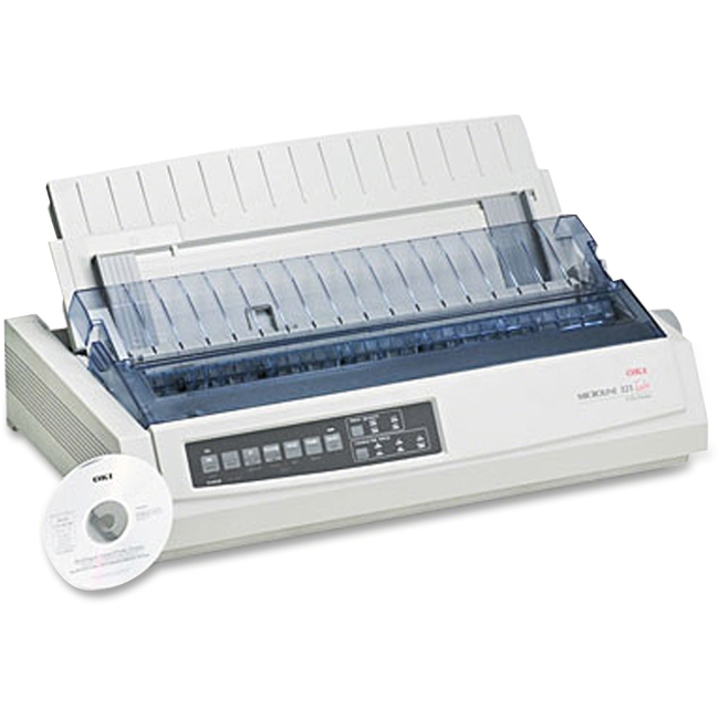 Oki MICROLINE 321 Turbo Dot Matrix Printer - 9-pin - 435 Mono - 288 x 144 dpi - USB - Parallel
