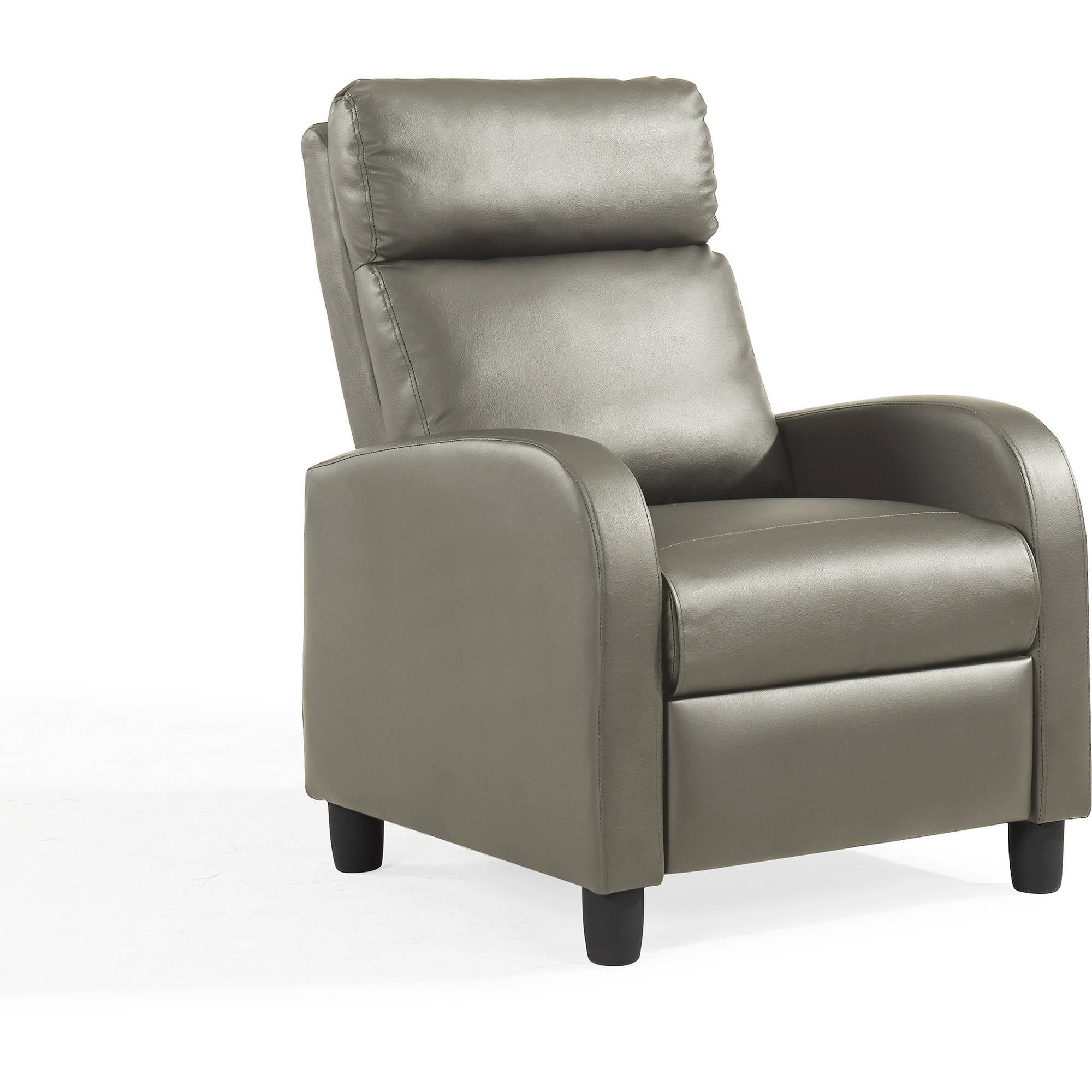 Mainstays Pushback Faux Leather Recliner, Multiple Colors