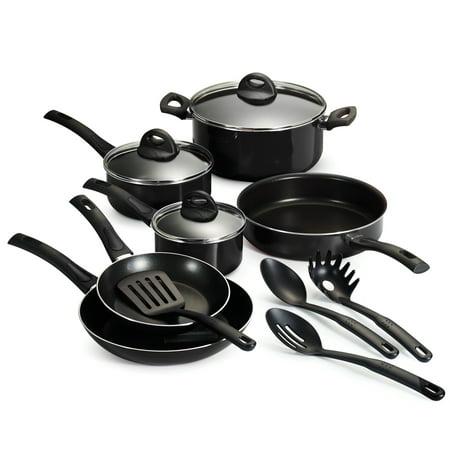 Black Cookware Set (Tramontina Everyday Non-Stick Black Cookware Set, 13)