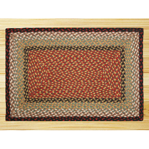 Earth Rugs Burgundy/Mustard Braided Area Rug