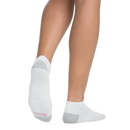 Women's Low Cut Socks, White, 10-Pack