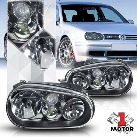 Black Housing Clear Lens Headlight Projector Fog Lamp for 99-06 VW Golf MK4 IV 00 01 02 03 04 05