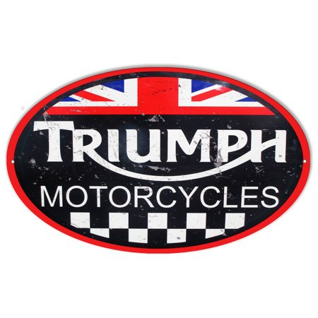 Large Triumph Motorcycles Reproduction Garage Shop Metal  Sign 11