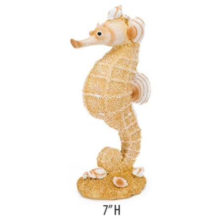 Penn Plax RR1411 2.25 W x 4 D x 8 H in. Sand & Shell Seahorse Ornament