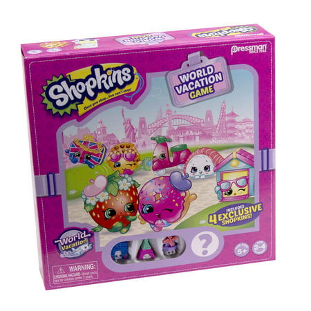 Pressman Toy Shopkins World Vacation Game Ages 5 And Up