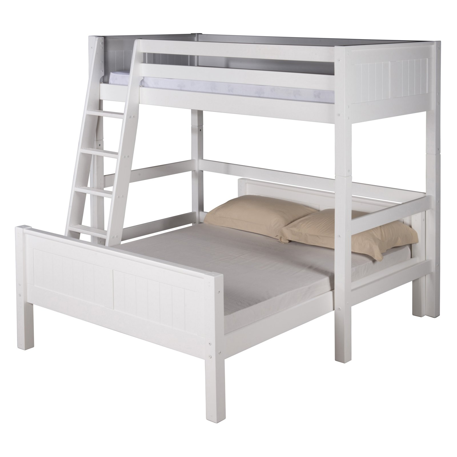 Camaflexi Twin over Full Loft Bed - L Shape - Panel Headboard - Multiple Finishes
