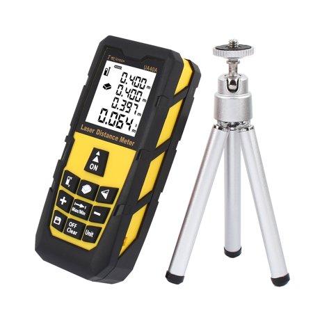 131ft 40M Digital Laser Distance Meter Measure Rangefinder Yellow w Tripod - image 8 of 8