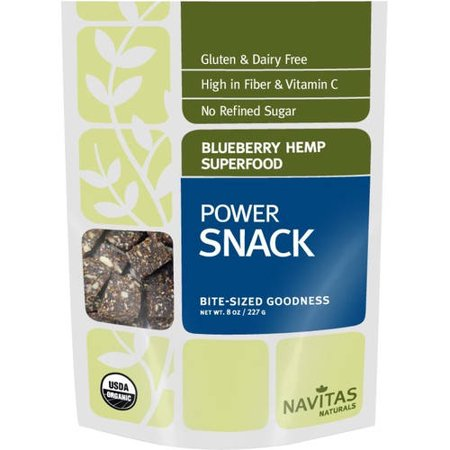 Navitas Naturals Blueberry Hemp Superfood Power Snack, 8 oz