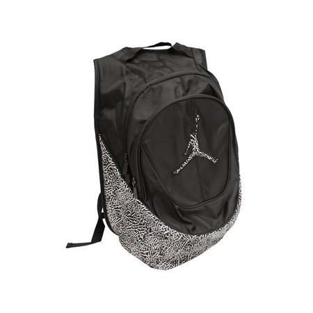 70024acfc0c9 Jordan - Nike Jumpman Elementary Backpack Elephant Print Black White  9A1414-023 - Walmart.com