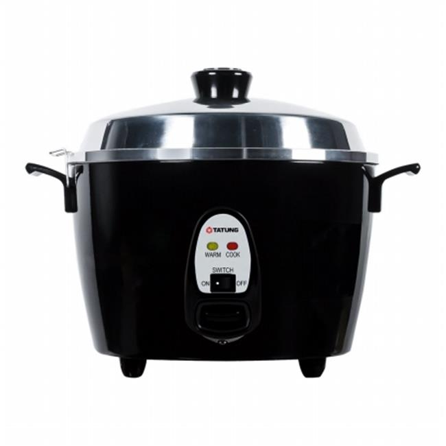 Tatung TAC-10GS-BL 10 Cup Multi Functional Aluminum Rice Cooker, Black