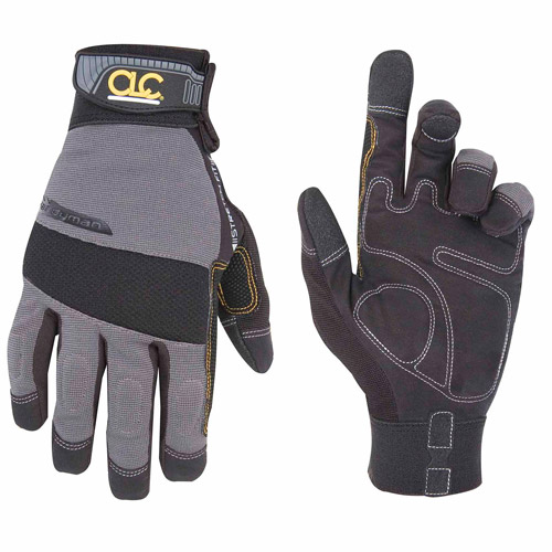 Custom Leathercraft Black and Gray Large Handyman Gloves