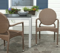 Safavieh Valdez Indoor/Outdoor Stacking Chair, Set of 2