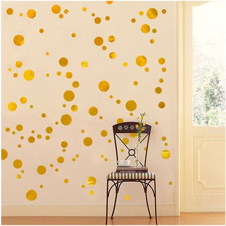 GLiving Simple beautiful Wall Decal Dots, Decorative Wall Decal, Safe on Painted Walls, Removable PVC Dot Decor, Mixed Dia Size Design, Round Sticker Large Paper Sheet Set for Nursery Room,