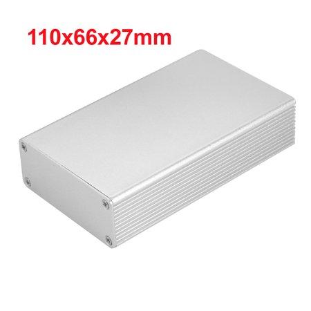 Silver Tone 110x66x27mm Heatsink Radiator Aluminum Electronic Box Enclosure Case - image 3 of 4