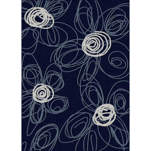 Wildon Home  Drawn Navy & Pearl Outdoor Area Rug