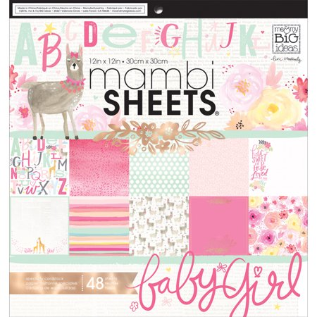"Mambi Single-Sided Paper Pad 12""X12"" 48/Pkg She"