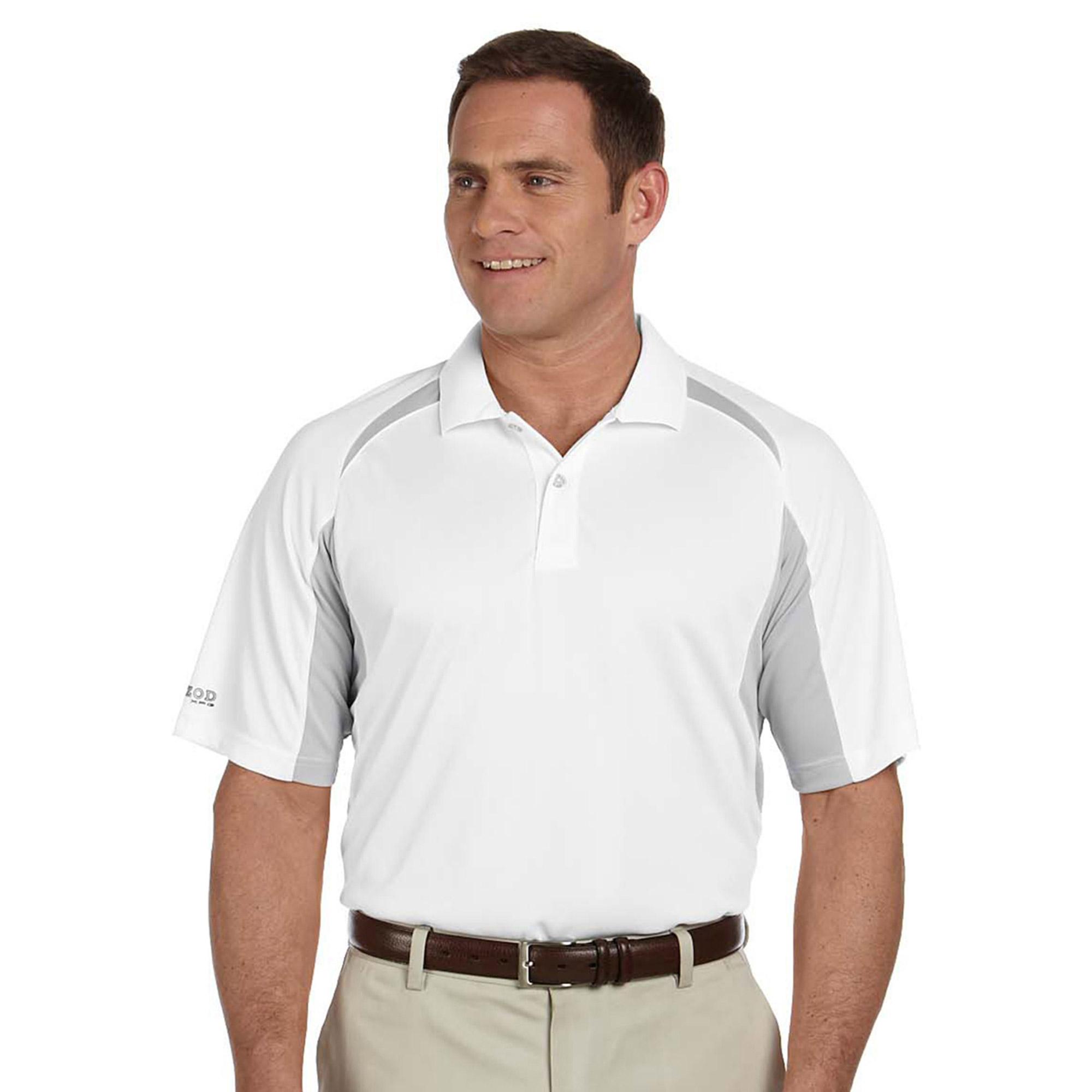 Izod Men's Contrast Performance Dobby Polo Shirt
