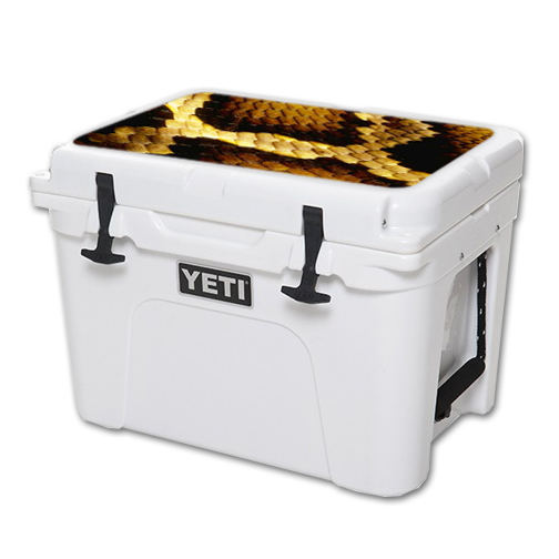 MightySkins Protective Vinyl Skin Decal for YETI Tundra 35 qt Cooler Lid wrap cover sticker skins Python