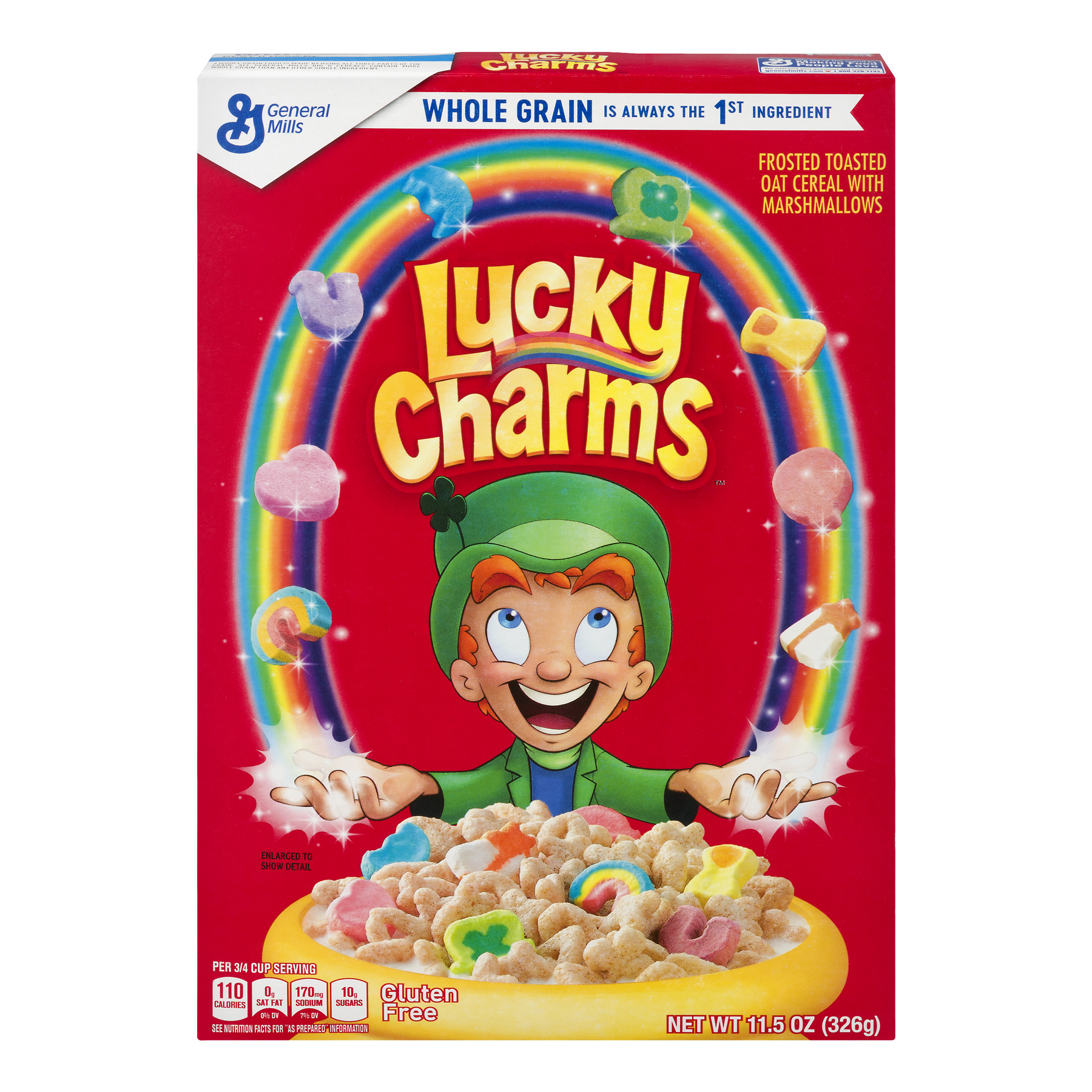 Lucky Charms Gluten Free Cereal, 11.5 Oz (Pack of 2)