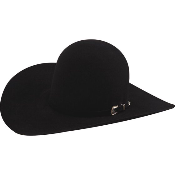70f4224a4 American Hat Company Mens 10X Black Open Crown Felt Cowboy Hat