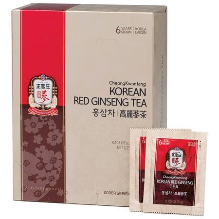 Cheong Kwan Jang  Korean Red Ginseng Tea  50 Packets  0 105 oz  3 g