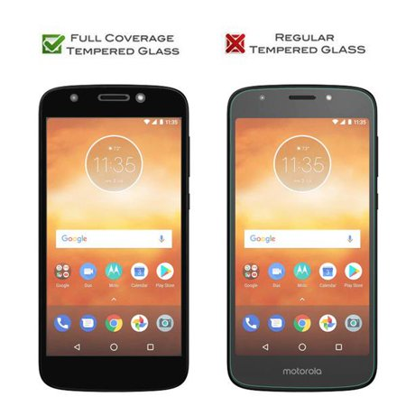 Motorola Moto G6 Play, G6 Forge Temper Glass Anti Scratch [Full Screen Coverage] Glass Screen Protector for Moto G6 Play - Black - image 1 of 5