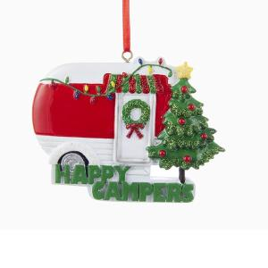 Happy Campers Caravan Christmas Ornament