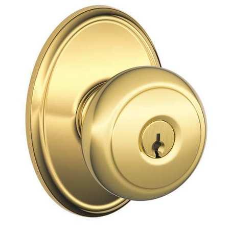Knob Lockset,Mechanical,Entrance,Grd. 1 SCHLAGE F51A AND 605 WKF