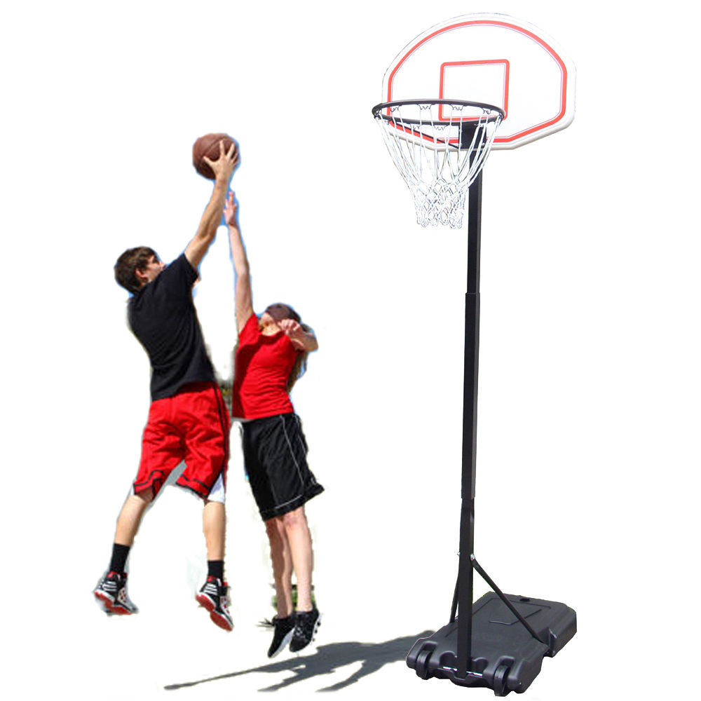 Zimtown 5.4ft - 6.7ft Height Adjustable Kids Junior Basketball Goal, Portable Basketball Hoop Stand Net Backboard System, with Wheels for  Indoor / Outdoor Court Backyard Exercise Workout