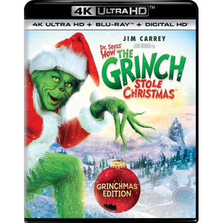 Dr. Seuss' How The Grinch Stole Christmas (Grinchmas Edition) (4K Ultra HD + Blu-ray + Digital (Kente Stole)